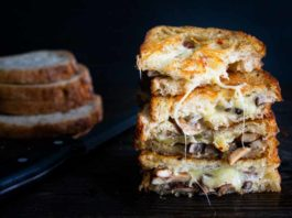 Garlic Mushroom Grilled Cheese