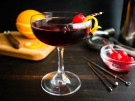 Mahogany Manhattan (a cherry chocolate Manhattan variation)